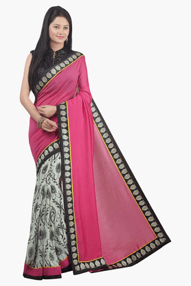 JASHN Womens Printed Saree - 201502485