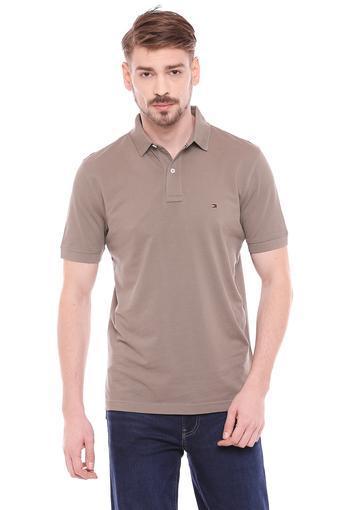 TOMMY HILFIGER -  Light BrownT-shirts - Main