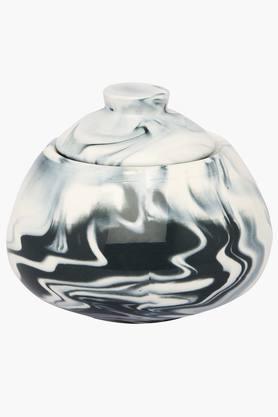 IVYMarble Fin Black Sugar Pot