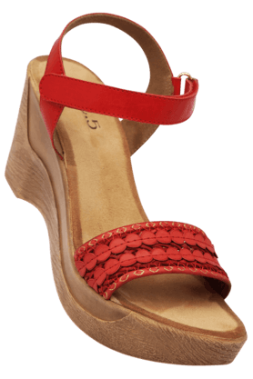 INC.5 Womens Velcro Closure Wedge Sandal