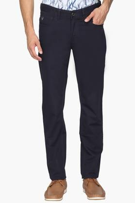 ALLEN SOLLYMens 5 Pocket Regular Fit Solid Trousers