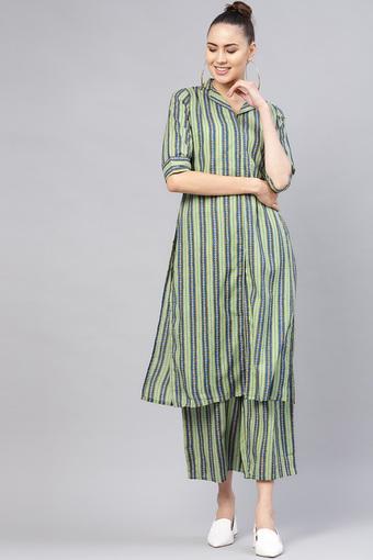 LIBAS -  GreenSalwar & Churidar Suits - Main
