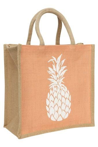 Pineapple Print Lunch Bag