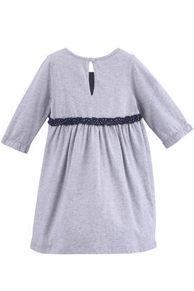 Girls Round Neck Slub Jersey Dress
