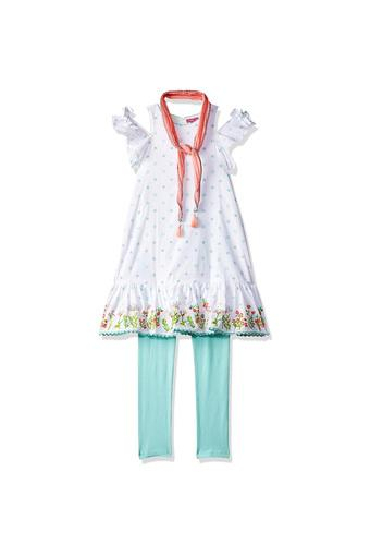 BIBA GIRLS -  WhiteIndianwear - Main
