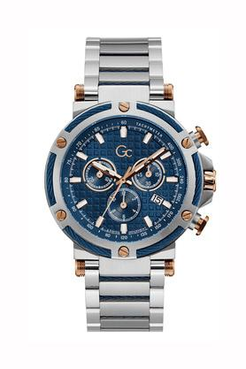 Mens Blue Dial Stainless Steel Chronograph Watch - Y54003G7MF
