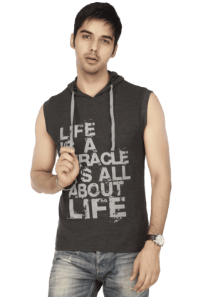 LIFE Men Sleeveless Slim Fit Printed Jacket