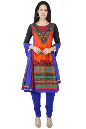 HAUTE CURRY Women Cotton Printed Churidar Suit