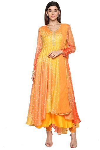BIBA -  Yellow Mix Salwar & Churidar Suits - Main