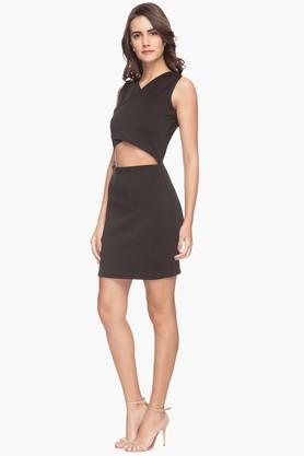Womens Cut-out Casual Mini Dress