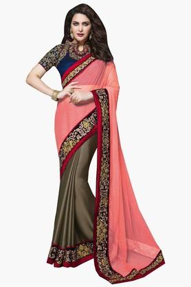 MAHOTSAV Womens Glitter Work Saree