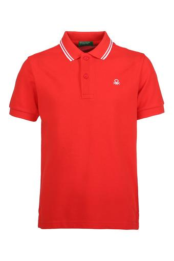 UNITED COLORS OF BENETTON -  Red Topwear - Main