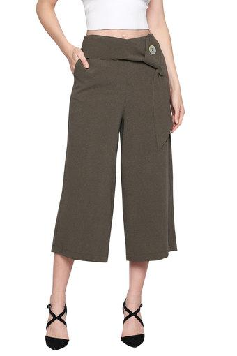 ONLY -  Dark Olive Pants - Main