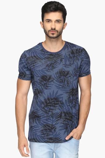 OCTAVE -  Blue MelangeT-Shirts & Polos - Main