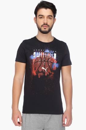 PUMAMens Round Neck Short Sleeves Printed T-Shirt - 201583876