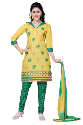 DEMARCAWomen Cotton Dress Material (Buy Any Demarca Product & Get A Pair Of Matching Earrings Free) - 200875663