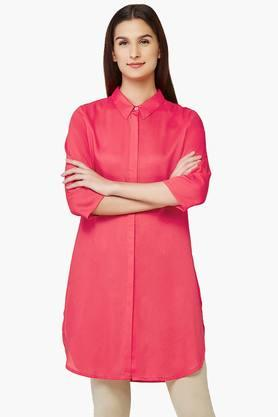 AND Women Solid Collared Kurti  ...