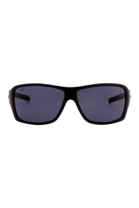 TITAN Eye Plus Glares Black Full Rim Sporty Wrap Unisex UV Sunglasses