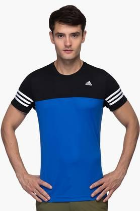 ADIDAS Mens Round Neck Colour Block T-Shirt - 201142762