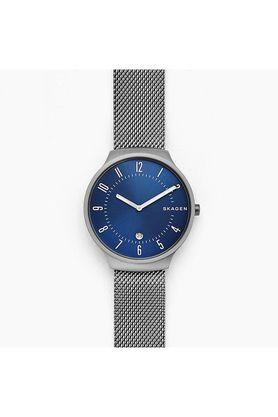 Mens Blue Dial Metallic Analogue Watch - SKW6517
