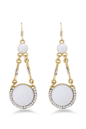 JAZZ Wedding Wear White Pearl & Stone Antique Design Earring