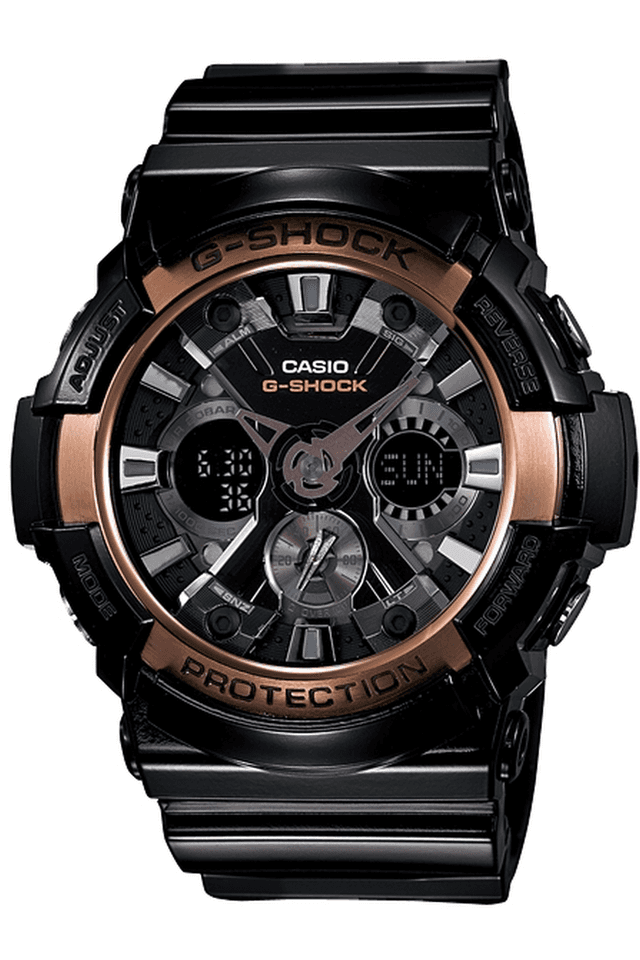 G-Shock - Resin Strap Watch with Black Round Dial