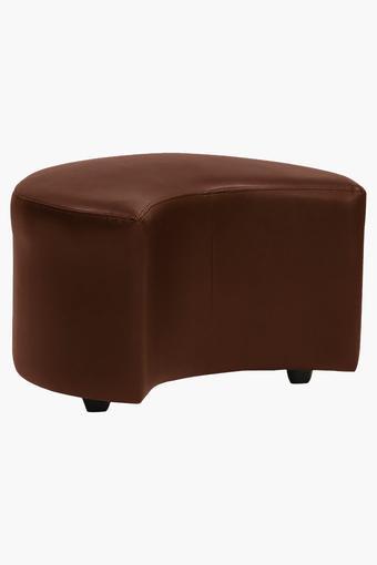 Warm Tan Leatherette Modular Sofa (1 Seater - 1 Pouf )