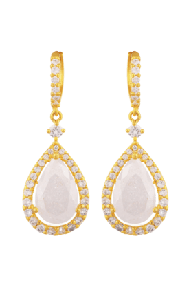 TUAN Gold Plated Hoop Dangle Earring For Women (IER-610) (Use Code FB20 To Get 20% Off On Purchase Of Rs.1800)