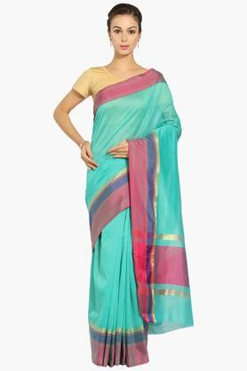 JASHN Women Chanderi Saree With Zari Border - 202444474