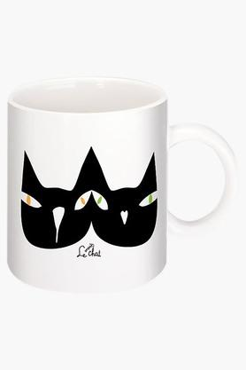 CRUDE AREA Black Cats Printed Ceramic Coffee Mug By Natasa  ...