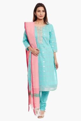 Women Poly Cotton Straight Suit Set - 202179682