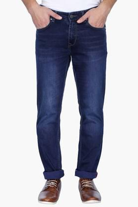 LOUIS PHILIPPE JEANS Mens Slim Fit Mild Wash Jeans ( Colorado Fit)