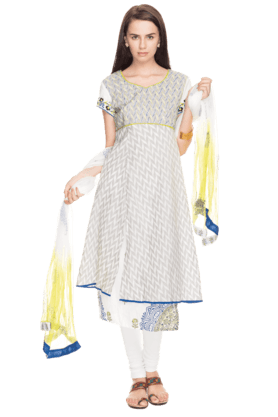 BIBAWomens Printed Churidar Suit - 200892207