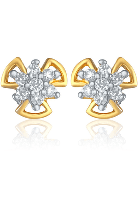 MAHI Mahi Gold Plated Mania Earrings With CZ For Women ER1103806G