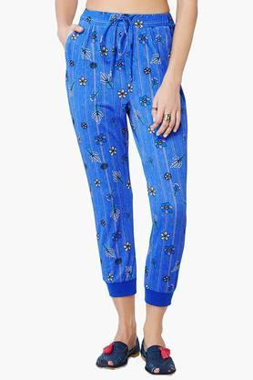 Women 2 Pocket Printed Joggers