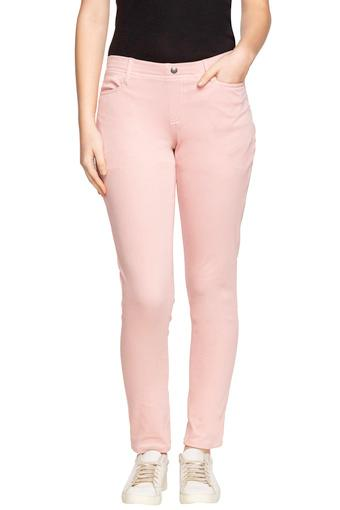 GO COLORS -  Baby Pink Jeans & Leggings - Main