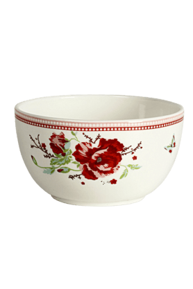 DEVON NORTH Red Poppy Veg Bowl