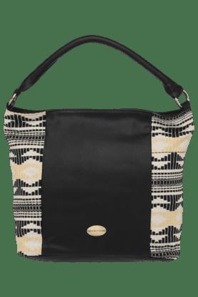 HAUTE CURRYWomens Leather Zipper Closure Casual Hobo Handbag