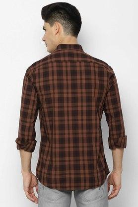 ALLEN SOLLY - Chocolate Casual Shirts - 1