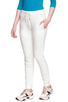 Womens 4 Pocket Solid Sports Joggers