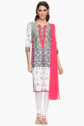 IMARA Womens Printed Churidar Kurta And Dupatta Set - 201430658