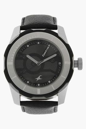 FASTRACKMens Bicolour Dial Leather Strap Watch