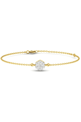 SPARKLES His & Her Diamond Bracelets In Gold And Real Diamond - 0.07 Cts