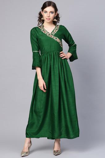 C103 -  GreenEthnic Dresses - Main