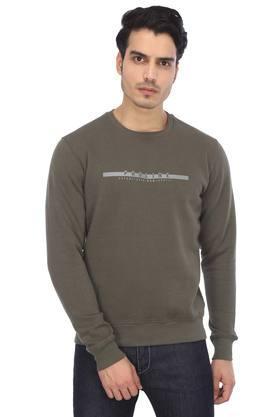 Mens Round Neck Printed Sports Sweatshirt