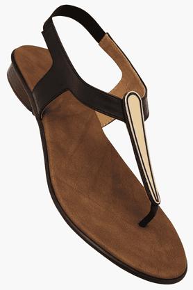 LEMON & PEPPERWomens Daily Wear Slipon Flat Sandal