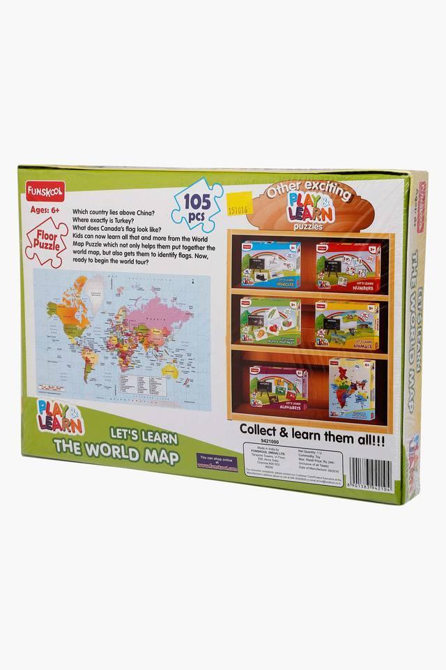 Unisex World Map Floor Puzzle