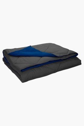 STOA PARISBlue Grey Reversible Microfiber Comforter (Comforter (Double)