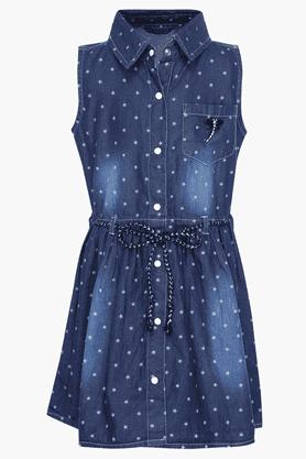 Girls Cotton Printed Dress
