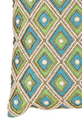 Square Diamond Embellished Cushion Cover